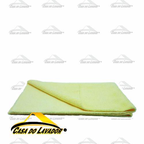Pano de Microfibra Sem Borda 38X38CM 300GSM Amarelo Mandala