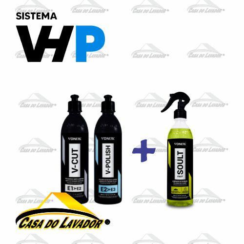 Combo Polimento Sistema VHP Vonixx + Limpador de Boinas