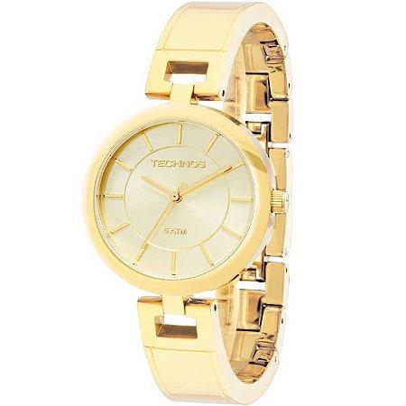 43b498e15de Relogio Feminino Dourado Technos Bracelete Pequeno - Relojoaria Jabem