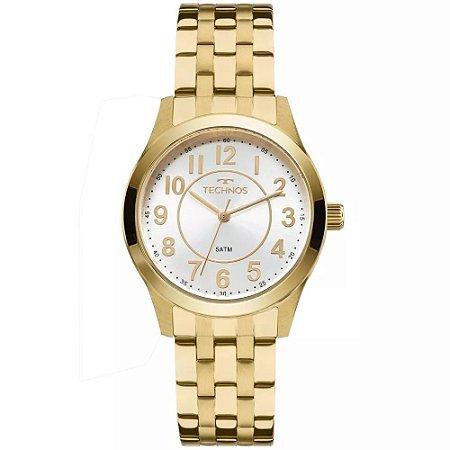 Relogio Feminino Dourado Technos Elegance 2035MJD 4K - Relojoaria Jabem a7a8276acf