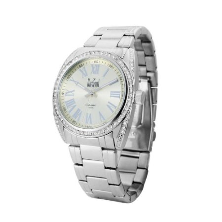 fd4eac677 Relogio Feminino Prata Dumont com Strass SW25251X - Relojoaria Jabem