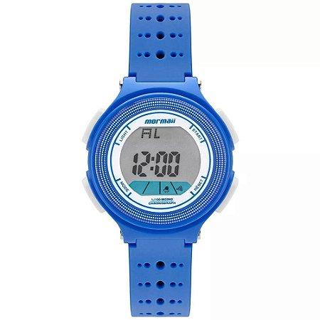 8253367d426 Relogio Feminino Digital Azul com Branco Mormaii MO0974 8A ...