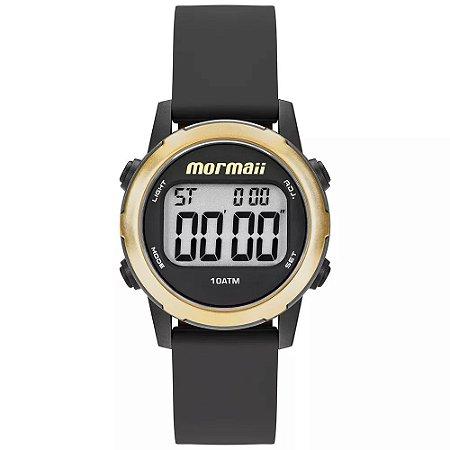 810efec9d27 Relogio Feminino Digital Preto com Dourado Mormaii - Relojoaria Jabem