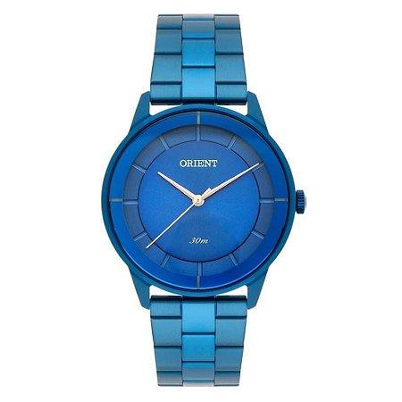 Relogio Feminino Orient Azul Ponteiros Rose FASS0002 D1DX