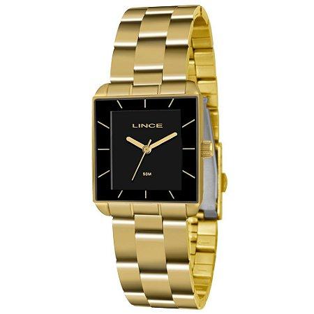 9280927c220 Relogio Feminino Quadrado Dourado Lince LQG4583L P1KX - Relojoaria Jabem