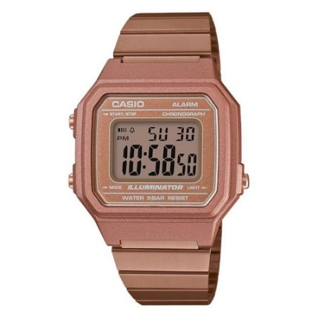 Relogio Feminino Digital Casio Vintage Rose Quadrado B650WC