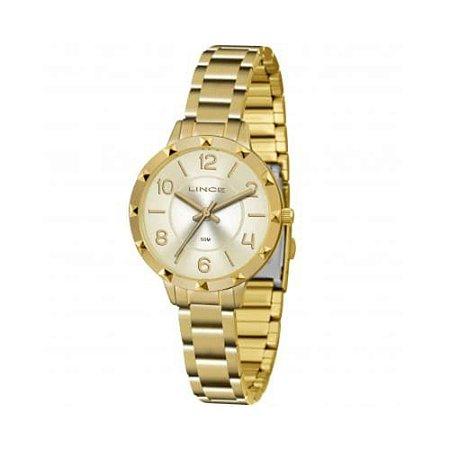 Relogio Feminino Dourado Pequeno Lince LRG4503L C2KX
