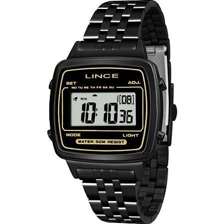 Relógio Feminino Digital Quadrado Preto Lançamento Lince