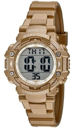 Relógio Feminino Digital Esportivo Dourado Speedo 80631