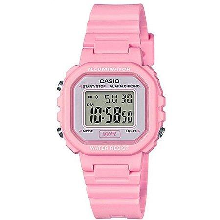 Relógio Casio Infantil Feminino Rosa  Pequeno Digital + NF