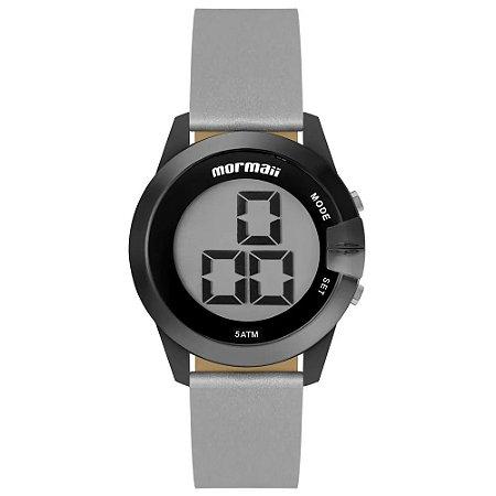 Relógio Feminino Digital Preto Pulseira Couro Mormaii