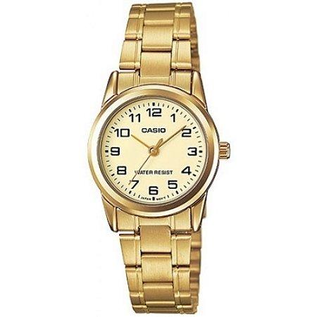 Relógio Casio Feminino Dourado Pequeno Prova D'água Original
