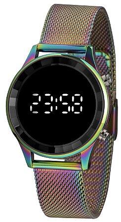 Relógio Feminino Digital Colorido Led Lince Prova D'Água+NF