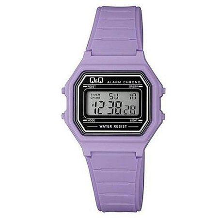 Relógio Infantil Feminino Lilás Quadrado Digital Original