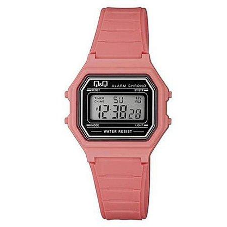 Relógio Infantil Feminino Rosa Quadrado Digital Silicone