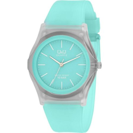 Relógio Feminino Verde Transparente Ponteiro Sem Numero +NF