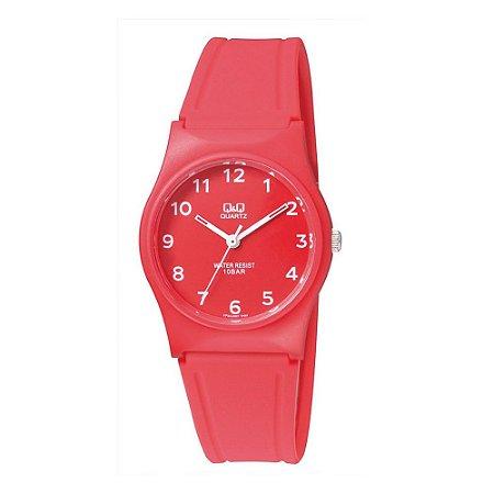 Relógio Feminino Vermelho Ponteiro Branco Prova D'Água +NF