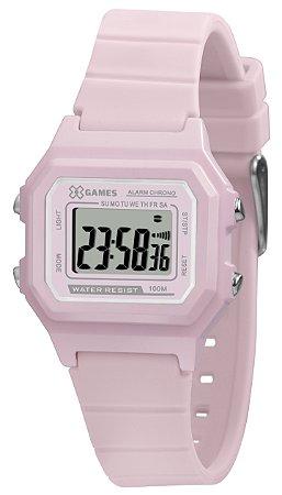 Relógio Infantil Feminino Rosa X-Games Digital Silicone + NF