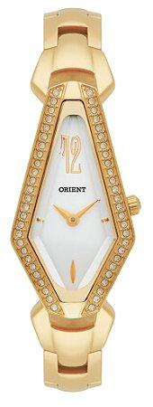 Relógio Feminino Dourado Orient Com Pedra Analógico Original