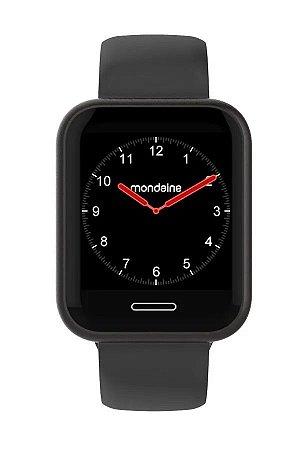 Smartwatch Preto  IOS e Android Prova D'Água Original+NF