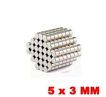 Imã de Neodímio Disco 5mm x 3mm *20 Peças*