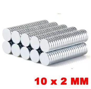 Imã De Neodímio Disco 10mm X 2mm *20 Peças*