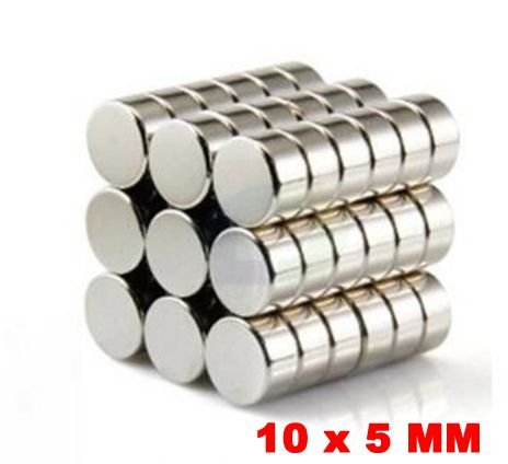 Imã De Neodímio Disco 10mm X 5mm *10 Peças*