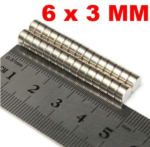 Imã De Neodímio Disco 6mm X 3mm *500 Peças*