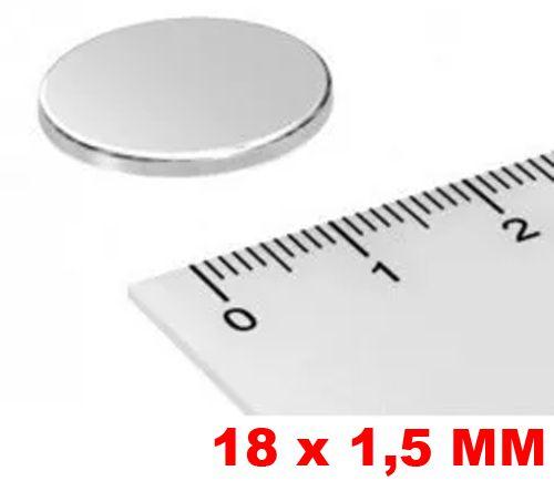 Imã De Neodímio Disco 18mm X 1,5mm *50 Peças*