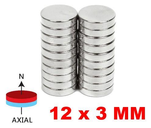 Imã De Neodímio Disco 12mm X 3mm Bolsa e Artesanato *30 Peças*