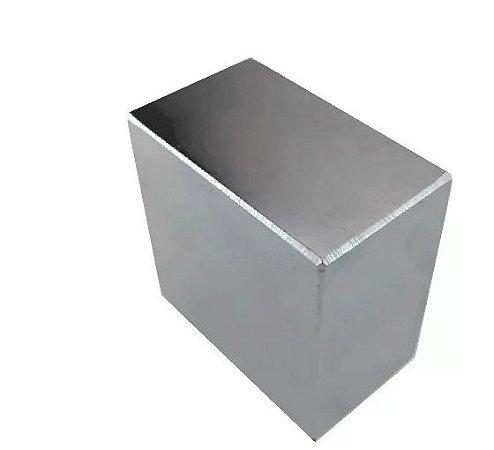 Imã De Neodímio Bloco 50x50x25mm Super Forte Trava Tudo N52 Ima