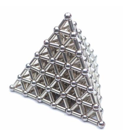 Neocubo Pirâmide Magnética de Neodímio Ø 7mm - 420 Peças - 336 Hastes + 84 Esferas - Neocube Pirâmide