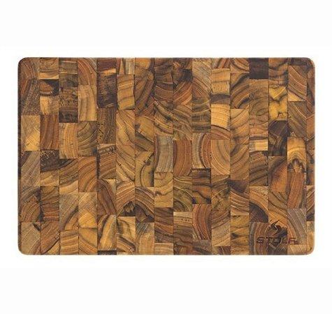 Tábua de Corte Multiuso Premium Madeira Invertida Teca 44x29 cm Lisa