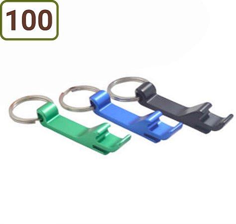 100 Chaveiros Abridor em Alumínio Personalizados