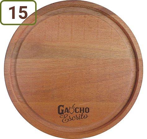 15 Tábuas Redondas Pizza / Queijo / Hambúrguer 23 cm Personalizadas