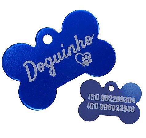 Placa Identificação Pet Osso Tam P 31x21 mm  Personalizada