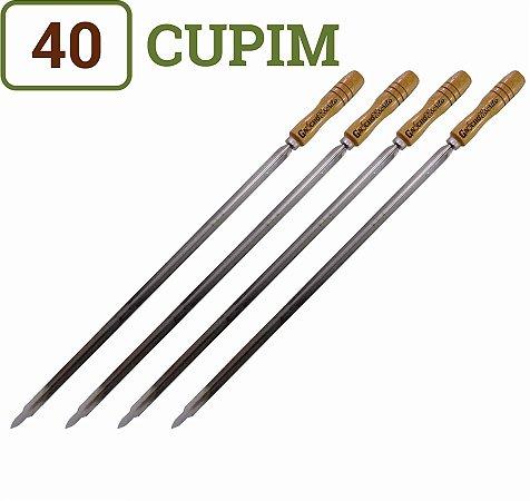 Pacote 40 Espetos para Churrasco Cupim Cabos Personalizados