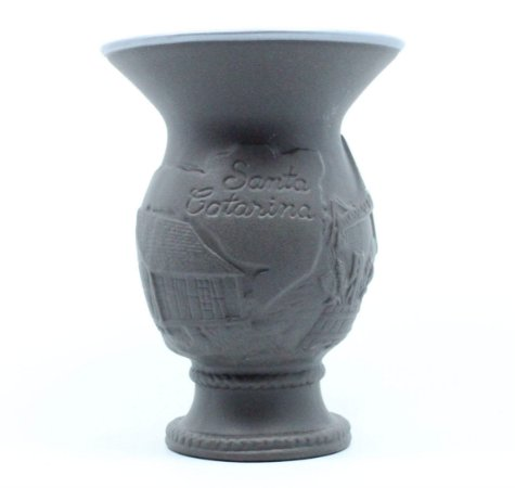 Cuia Chimarrão Tereré Cerâmica 350 ml Grafite Santa Catarina