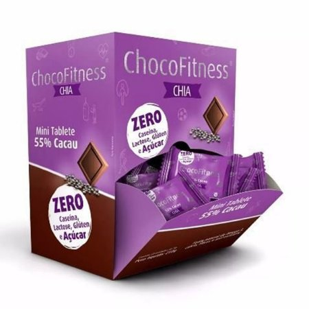 Chocolate Chocofitness 55% Chia Display 50x5g