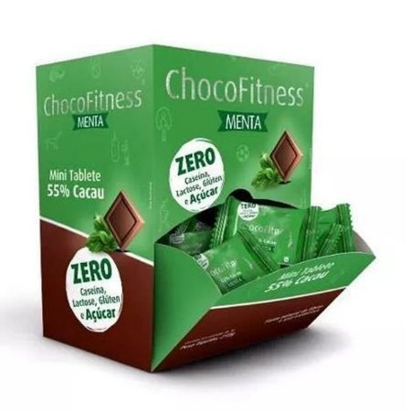 Chocolate Chocofitness 55% Menta Display 50x5g