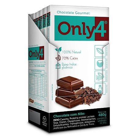 Chocolate com Nibs 70% Only 4 Display 6x80g