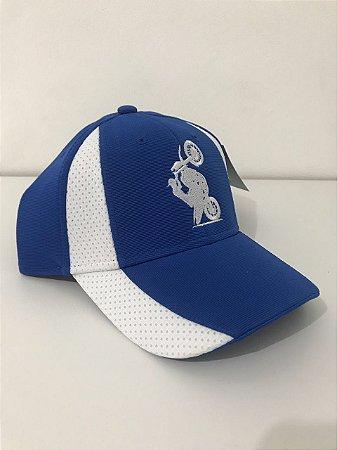 Boné Aba Curva Bordado XT660 - Azul royal e Branco