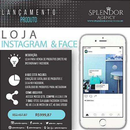 Loja Virtual - Instagram  & Face