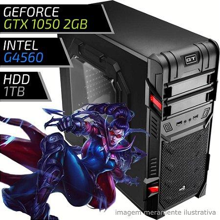 COMPUTADOR PC GAMER FIRST - INTEL G4560 / 8GB DDR4 / GTX 1050 2GB / HD 1000GB / GT BLACK