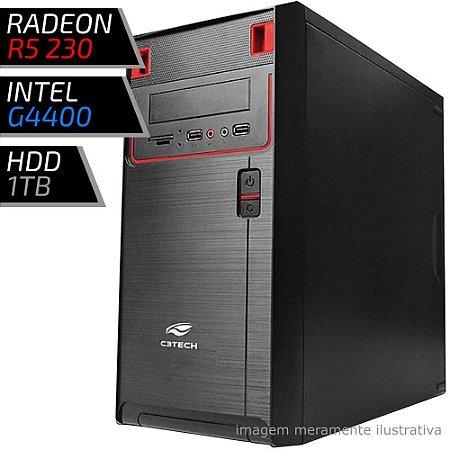 COMPUTADOR PC GAMER FIRST - INTEL G4400 / 4GB DDR4 / R5 230 1GB / HD 1000GB / 21BK