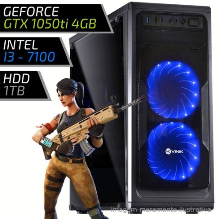COMPUTADOR PC GAMER FIRST - INTEL I3 7100 3.9GHZ / 8GB DDR4 / GTX 1050TI 4GB / HD 1000GB / GUARDIAN