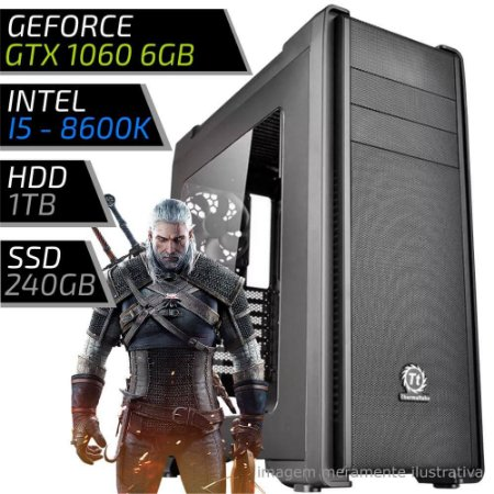 COMPUTADOR PC GAMER EXTREME - INTEL CORE I5 8600K / 16GB DDR4 / GTX 1060 6GB / HD 1000GB / SSD 240GB / C21