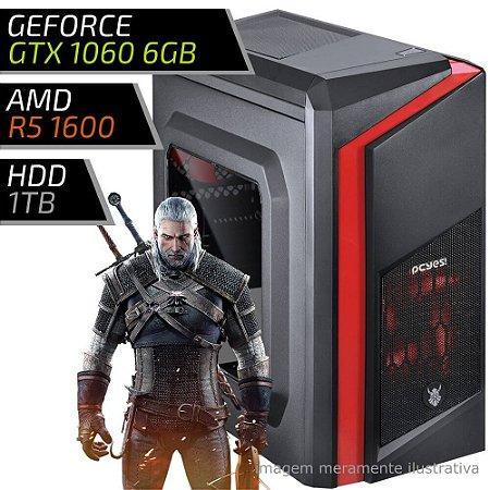 COMPUTADOR PC GAMER ADVANCED AMD - RYZEN 5 1600 / 8GB DDR4 / GTX 1060 6GB / HD 1TB / DWARF