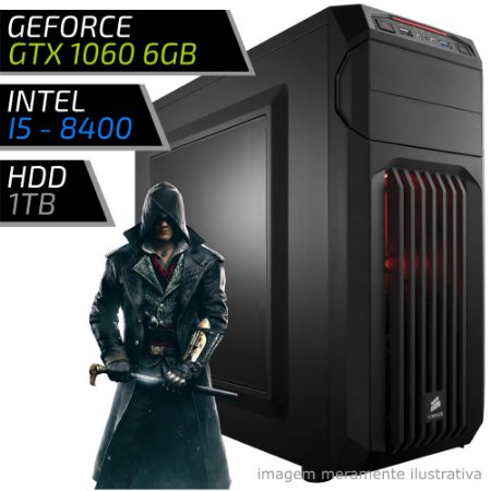 COMPUTADOR PC GAMER ADVANCED - INTEL CORE I5 8400 / 8GB DDR4 / GTX 1060 6GB / HD 1000GB / SPEC-01