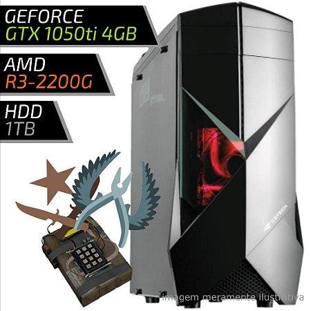 COMPUTADOR PC GAMER FIRST AMD – RYZEN 3 2200G / 8GB DDR4 / GTX 1050TI 4GB / HD 1TB / 300BK